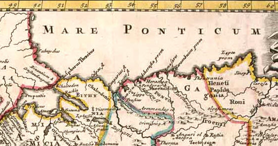 La mer Pontique par Herman Moll (1716)
