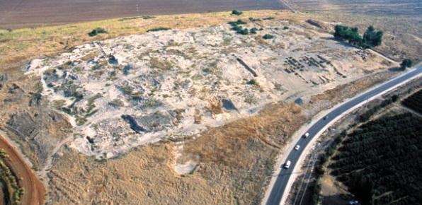 Vue des ruines de Tel Jezreel en 2012
