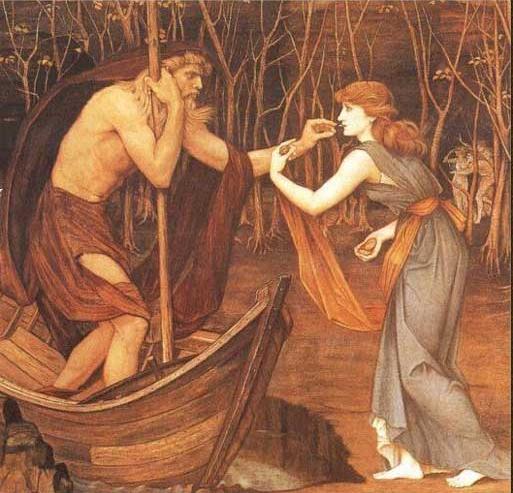 Charon et Psyché par John Roddam Spencer Stanhope 1883