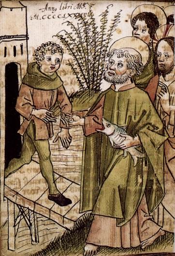 Saint Pierre payant l'impôt, par Augustin Tünger, 1486