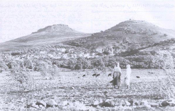 Les Cornes d'Hattin au début du 20e siècle