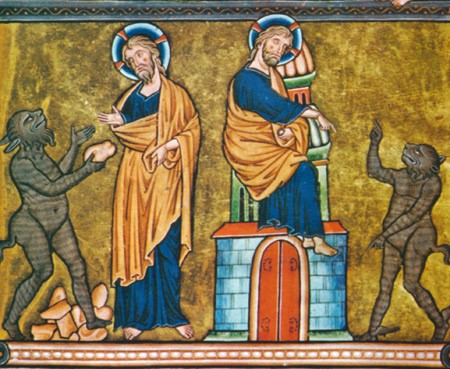 Tentations-du-Christ (Chantilly 13e-siècle)