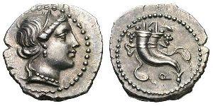 Denier d'argent de L. Sulla (81 av. J.-C).
