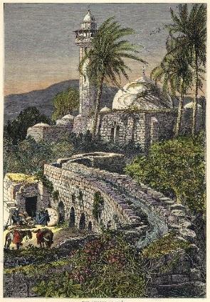 La fontaine et l'aqueduc d'Engannim, en 1881
